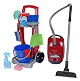 Theo Klein - Cleaning Trolley with Miele Vacuum Cleaner Premium Toys for Kids Ages 3 Years & Up