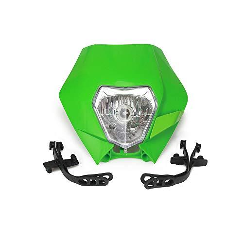 Rapide Pro Moto Phare Head Light Lampe Frontale avec Kits de Montage Universel pour la Plupart des Enduro et Super Motard Vélo