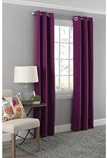 Mainstays Blackout Energy Efficient Grommet Curtain Panel, 40 x 63, Purple