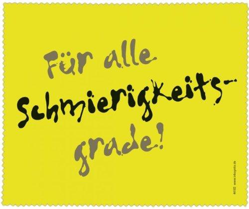 Brillenputztuch 18 x 15 cm • 44102 ''Alle Schmierigkeitsgrade'' von Inkognito • Künstler: INKOGNITO © Julia Weiss