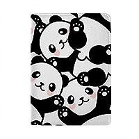 パスポートカバー スキミング防止 本革 パスポートケース 出張 旅行 カードパッケージ 旅行便利グッズ 多機能 旅券ケース かわいいパンダ 男女兼用