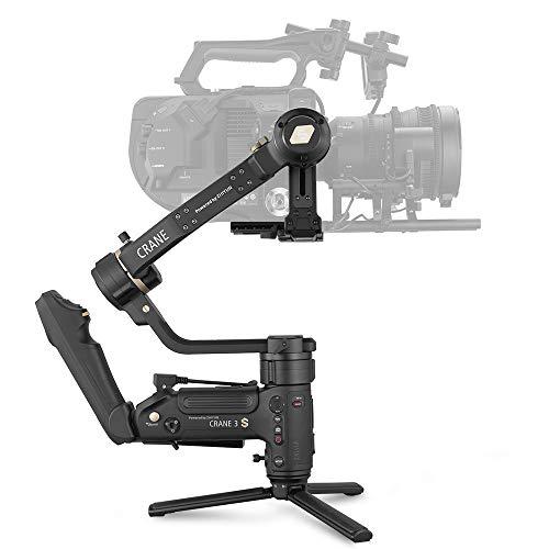 Zhiyun Crane 3S 3-Axis Gimbal Stabilizer for DSLR Camera Camcorder, Cinema Camera gimbal stabilizer for Sony Canon Panasonic Nikon, Up to 14.3lb playload Blackmagic 6K 4K Modular Design Smartsling Kit