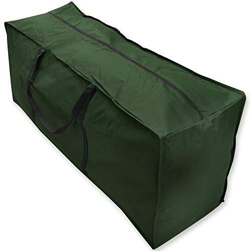 F Fellie Cover Housse de Protection pour Coussin Sac de Rangement pour Coussin de Jardin Sac de Transport pour mobilier de Jardin extérieur Imperméable Anti-décoloration Vert 116 x 47 x 51 cm.