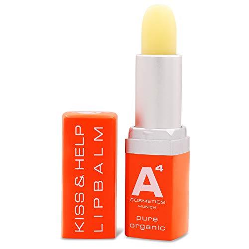 A4 - KISS & HELP LIPBALM | Lippenpflege | Lippenbalm (Lippenstift) | Feuchtigkeitspflege (4g)