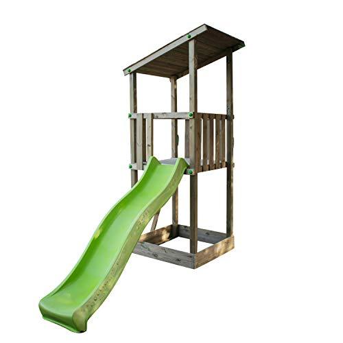 MASGAMES | Box per bambini Talaia L | Scivolo | Sabbiera nella base | Legno trattato | Omologato uso domestico | Ancoraggi inclusi |
