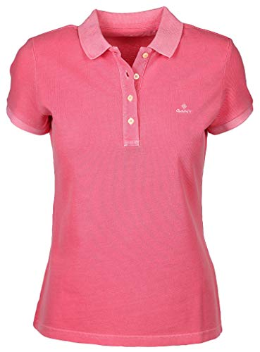 GANT Damen Poloshirt Sunfaded Pique Rugger Kurzarm Rose (70) L