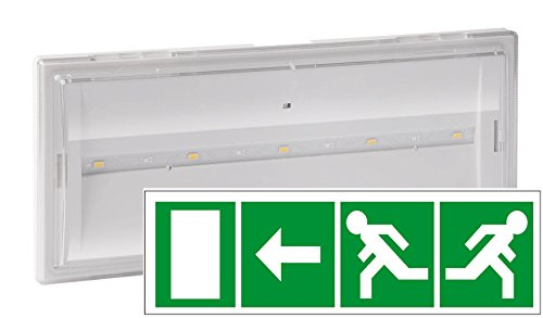 LED 10 Watt Fluchtwegeleuchte mit Akku Rettungswegleuchte Notleuchte Fluchtweg