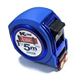 KELI France K•LINE - Cinta métrica compacta magnética profesional, doble material, dureza máxima 2,2 m de tensión, gancho cuadruple, cinta extra grande de 25 mm (5 metros x 25 mm)