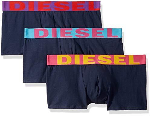 Diesel Herren Shawn 3 Pack Boxer Trunks Badehose, Marineblau/blau, Large