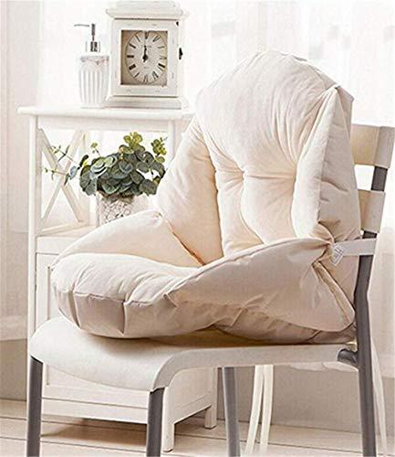 Hava Kolari Auflage Stuhlauflage Sitzkissen Sitzpolster Kissen Niederlehner Sitz Rückenkissen mit abnehmbarem Kopfpolster (Weiß,55 * 45cm)