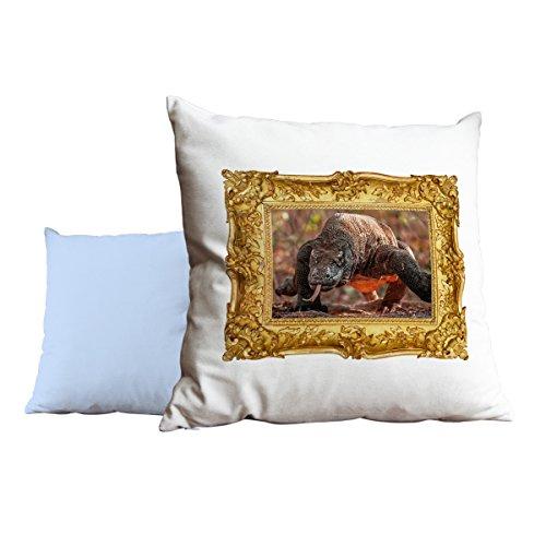Komodo Dragon Animal azul cojín almohada 181