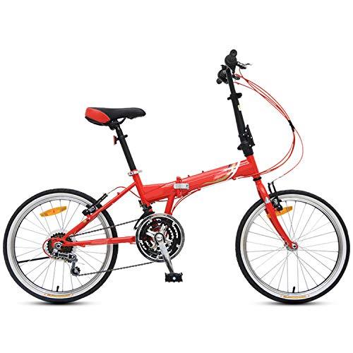 UNCTAD 20 Pulgadas 21 velocidades Bicicleta Plegable, Ligero y Duradero Bicicleta Montaña, Plegado rápido Manillar en T Bicicleta de suspensión Completa, para niña, niño, Hombre y mujerred