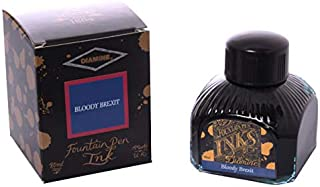 Diamine - Fountain Pen Ink, Bloody Brexit', 80ml, Red-Blue, limited edition