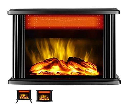 MIEMIE Calentador de Chimenea eléctrico Estufa de 1000W / 2000W con Efecto 3D Calefacción de Dos velocidades 1800W / 2000W Protección contra sobrecalentamiento de cerámica PTC E (Tamaño: Sin Soporte)