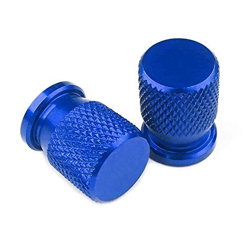 ZHAOYAN Tapones para válvulas de neumáticos de motocicleta de aluminio, protección contra fugas de aire, 2 unidades, apto para Ka-Wa-Sa-Ki Vulcan S 650Cc 650 CC, color azul