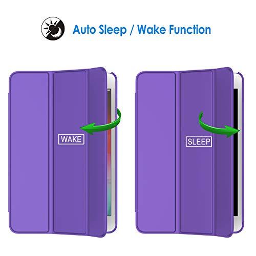 JETech Hülle Kompatibel mit iPad Mini 5 (2019 Modell 5. Generation), Intelligent Schutzhülle mit Auto Schlafen/Wachen (Lila)
