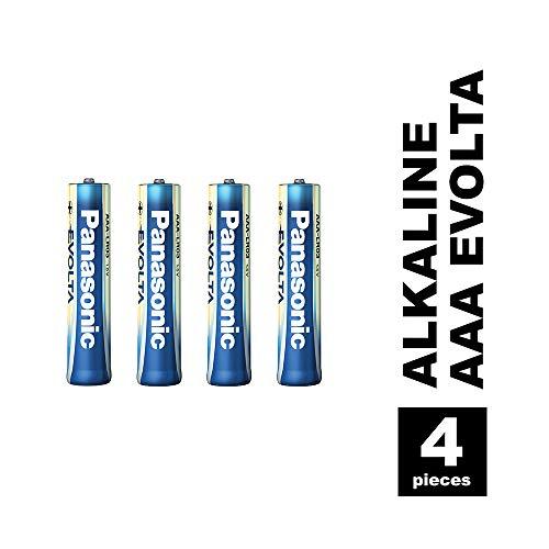 Panasonic Evolta Alkaline Batterie, AAA Micro LR03, 4er Pack, 1.5V, Premium-Batterie mit besonders langanhaltender Energie, Alkali-Batterie