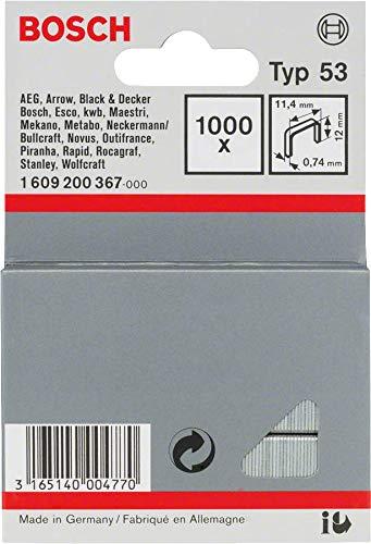Bosch Professional 1609200367 1000 Tackerklammern 12/11,4 mm Typ53