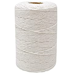 Cotton String:this cotton string is made with food grade cotton,safety health and Eco-friendly. Length and Thick:Approx 200 Meters (218 Yards)/ 656 Feet in length,0.078 inches (2mm) thick,with 12 ply. Handy to use- Packed on a coil and it is very con...