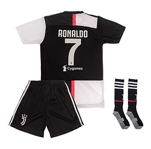 ATB Real Madrid # 7 Ronaldo 2018/19 Heim Kinder Trikot und Hose mit Socken (104)