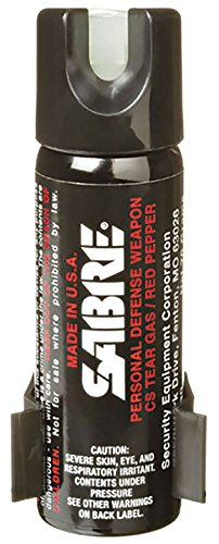 SABRE 3-IN-1 Pepper Spray Home Defense Unit — Police Strength – w/ Glow-in-the-Dark Safety &...
