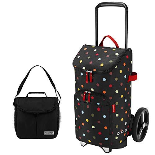 Reisenthel citycruiser Rack + citycruiser Bag 45 l Einkaufstrolley dots + Mini Kühltasche