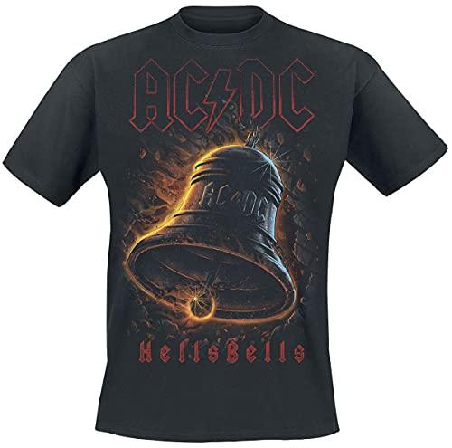 AC/DC AC/DC Hells Bells Männer T-Shirt schwarz S 100% Baumwolle Band-Merch, Bands