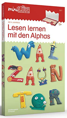 miniLÜK-Sets: miniLÜK-Set: Lesen lernen mit den Alphas: Vorschule - Deutsch: Ganz einfach lesen und rechnen (miniLÜK-Sets: Kasten + Übungsheft/e)