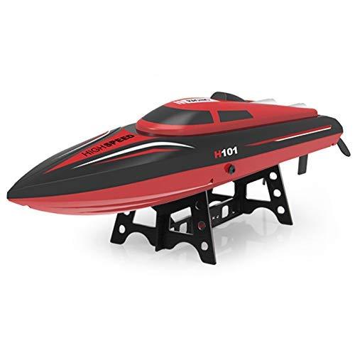 Modelo de Barco 35Km / H Radio de Alta Velocidad Control Remoto Lancha rápida Barco eléctrico 2.4Ghz RC Barco de Carreras Barcos dirigibles Adultos RC Recordatorio de batería Baja