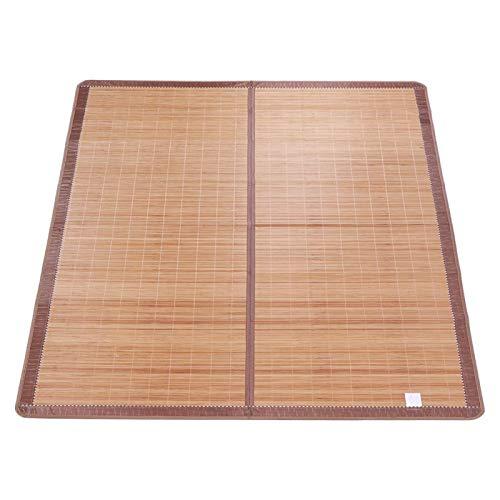 Voluxe Cool Summer Mat, Cool Summer Mat Diseño clásico Tratamiento de carbonización a Alta Temperatura Bambú Colchones de bambú, para el hogar Niños(90 * 190cm)