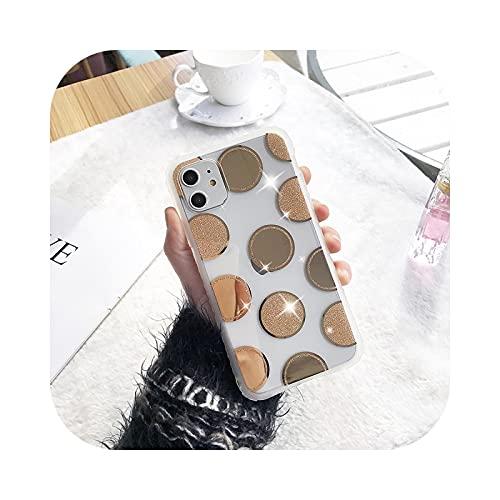 Henraly - Carcasa para iPhone 11 Pro XS Max X XR 6 6s 7 8 Plus con purpurina de poliuretano termoplástico flexible transparente