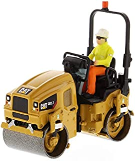 Diecast Masters CAT Caterpillar CB-2.7 Utility Compactor with Operator High Line Series 1/50 Diecast Model 85593