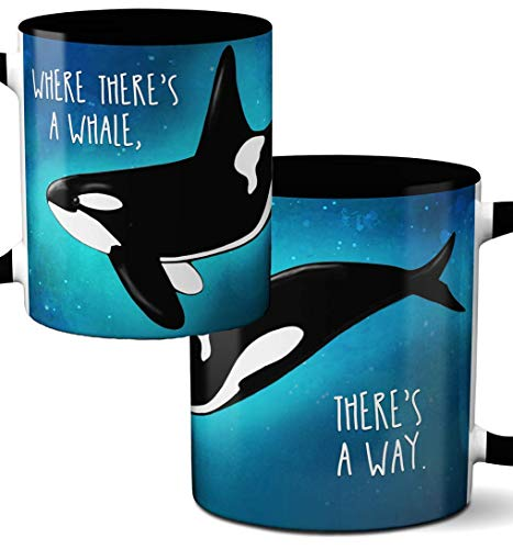"""""""Where there's a whale there's a way"""" Coffee Mug"""