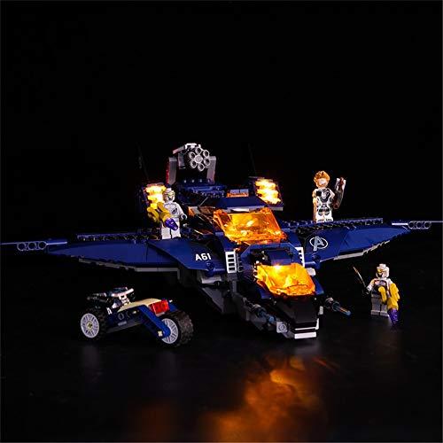 N-brand LED Light Up Kit Für Avengers Ultimate Quinjet-Set, Kompatibel Mit Lego 76126 Bausteinen Modell (LED...