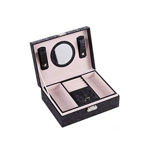 SHUMEISHOUT Caja de joyería Hogar Doble Velvet Joyería Joyería Caja de Almacenamiento Princesa Pendientes Anillo Caja Collar (Color : D)