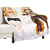 Soft Blanket, RWBY Yang Xiao Long Original Outfit Anime Girl Dakimakura, Travel Size Blankets Warm Plush Throw Blankets for The Bed Sofa, 50' x 60'