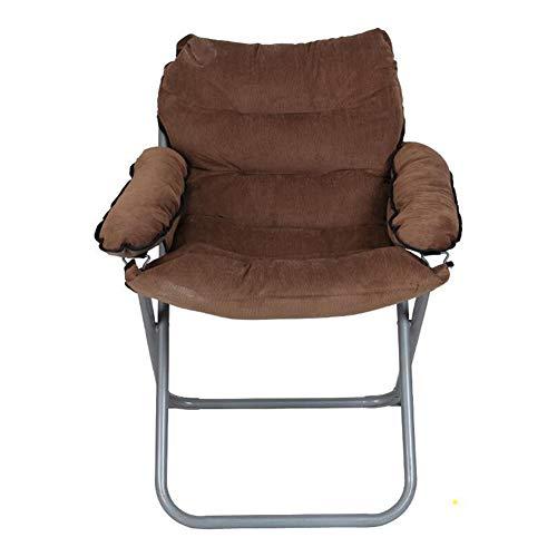 QIDI Chaise Pliante Chaise d'ordinateur Chaise de Pause-déjeuner Chaise de Jeu Chaise Moderne Simplicité Facile à Transporter Amovible Lavable Ménage - Pas Besoin d'installer (Couleur : Brown)