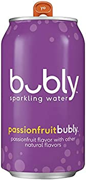 18-Pack Bubly Bubly Sparkling Water Passionfruit 12oz Cans