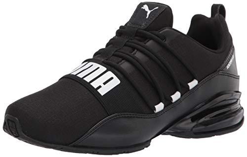 PUMA Cell Regulate Sneaker Running Shoe, Black White, 11 US Unisex Little Kid