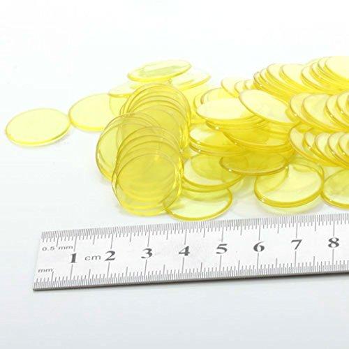 dailymall 100pcs Kunststoff Zählen Bingo Chips Marker Für Bingo Kartenspiel 3cm Durchmesser - Gelb, 3cm
