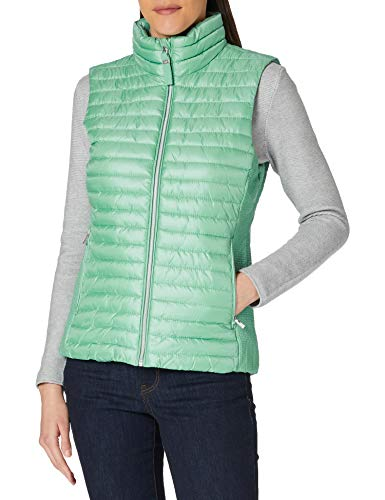 Tom Tailor 1024130 Lightweight Chaleco Guateado, 25986 Soft Leaf Green, S para Mujer