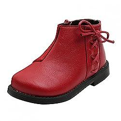 Plus Samt Ankle Boots Baby Kinder Schuhe Jungen Mädchen Winterschuhe Leder Winterstiefel Outdoor Kurze Stiefel Winter Warm Baumwollschuhe Rutschfest Stiefeletten