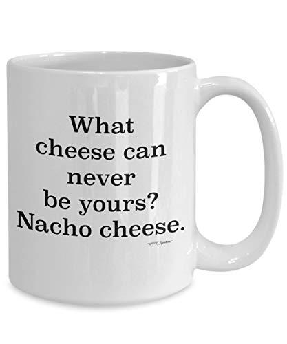 Eli231Abe Grappige Kaas Mok Kaas Koffie Mok Cup Wat Kaas Kan Nooit Jou Nacho Kaas Gift voor Kaas Liefhebber Nacho Lover Papa Joke