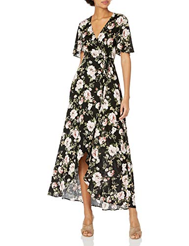 wrap dresses Show Me Your Mumu Women's Marianne Wrap Dress Courtney Loves Roses Cloud