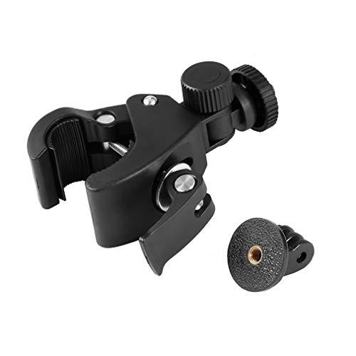 WXZQ Abrazadera de Manillar de Bicicleta Tija de sillín de Montaje en Jaula Enrollable para cámara GoPro Hero 5 4 3 Negro