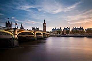 makeuseof D007 Big Ben Westminster Bridge london City Poster Art Wall Pictures for Living Room in Canvas fabric cloth Print