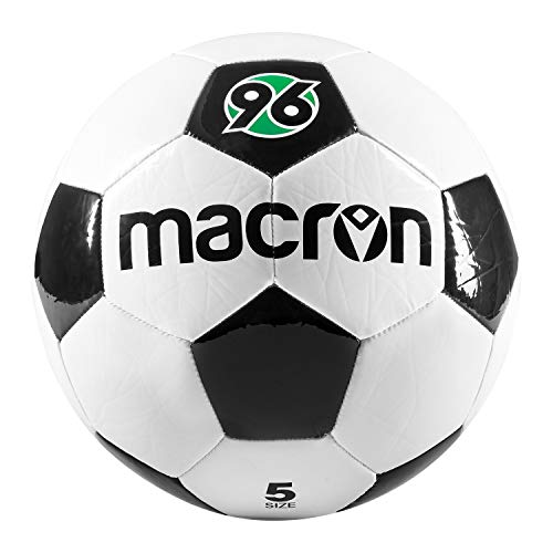 Hannover 96 Fußball Macron Gr. 5, Ball s-w-g H96 - Plus Lesezeichen I Love Hannover