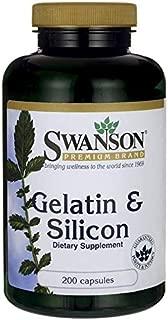 Swanson Gelatin & Silicon 200 Capsules