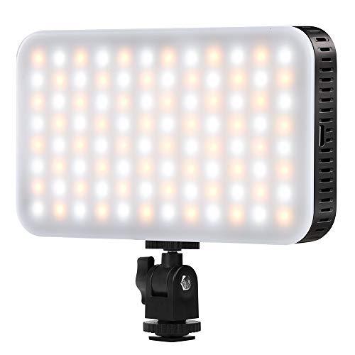 Luz LED en la Cámara con Cargador USB para Canon, Nikon, Pentax,...