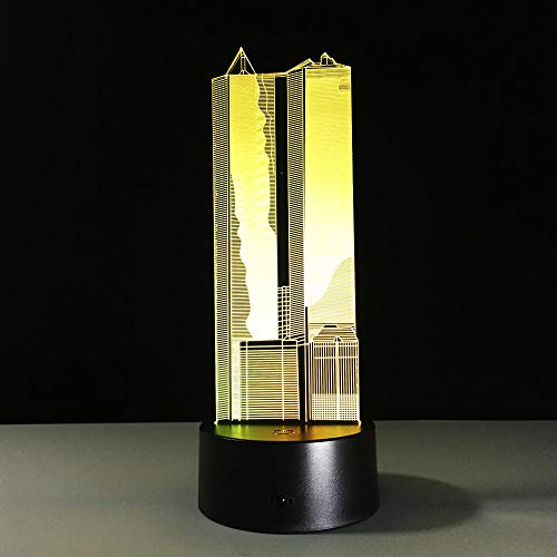 Lámpara de mesa con ilusión 3D, diseño de edificios, ilusión 3D, lámpara de mesa táctil, luz nocturna LED para decoración del hogar, regalo creativo para niños